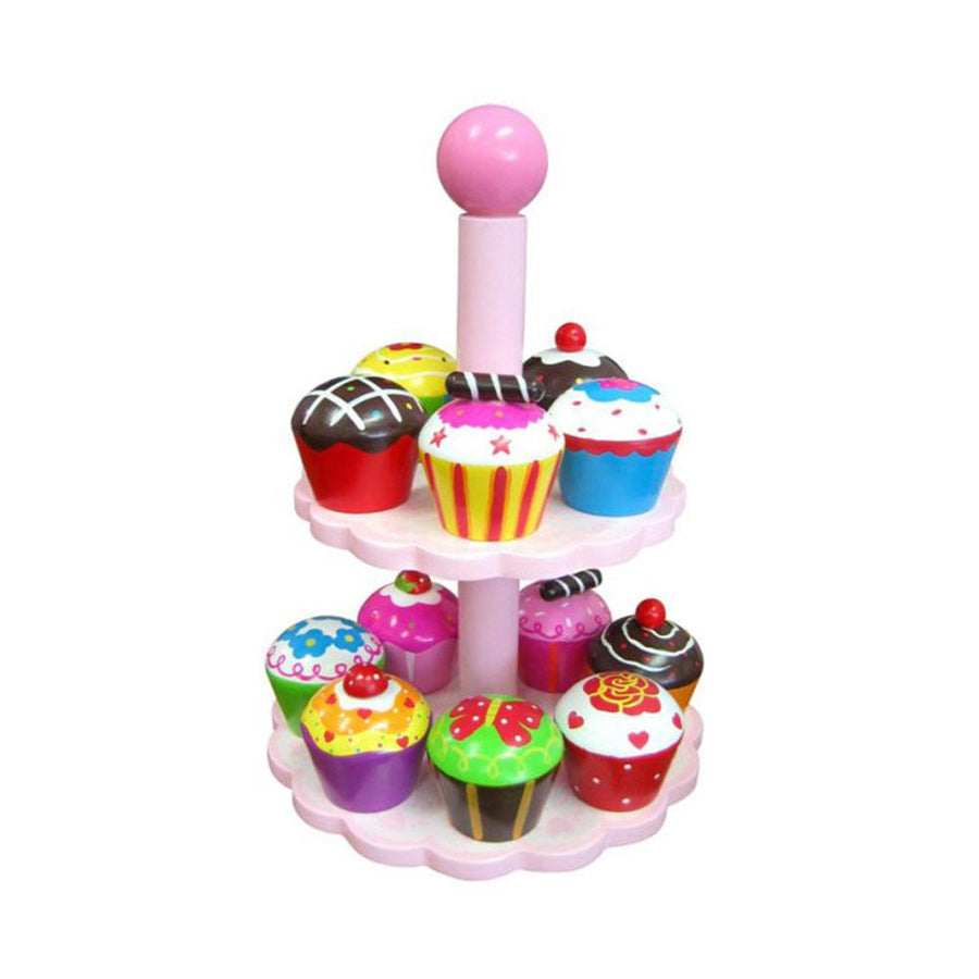 Wooden Cupcakes with stand