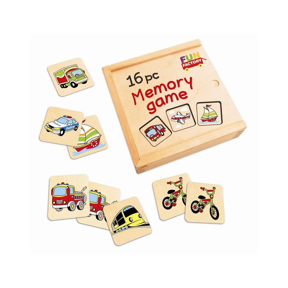 Fun Factory - Transport Memory Game - 16 piece - CleverStuff