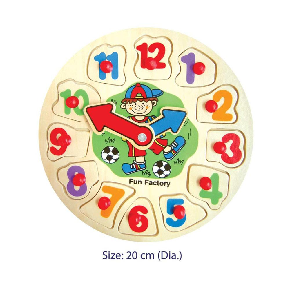 Fun Factory - Puzzle Clock - Soccer Boy - CleverStuff