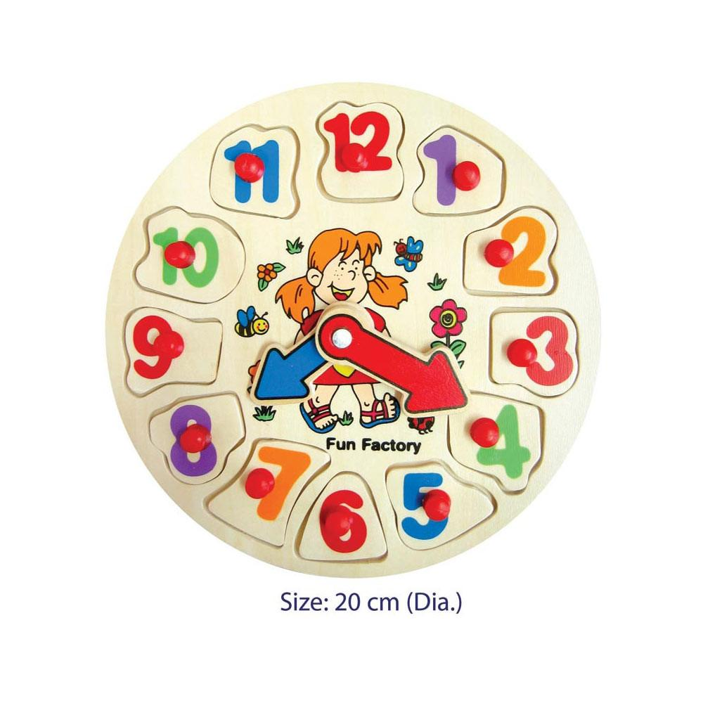 Fun Factory - Puzzle Clock - Garden Girl - CleverStuff