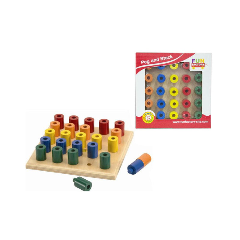 Fun Factory - Peg and Stack Board - CleverStuff