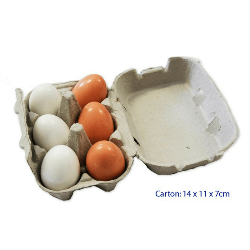 La Belle Toys - Wooden Eggs in Carton - CleverStuff