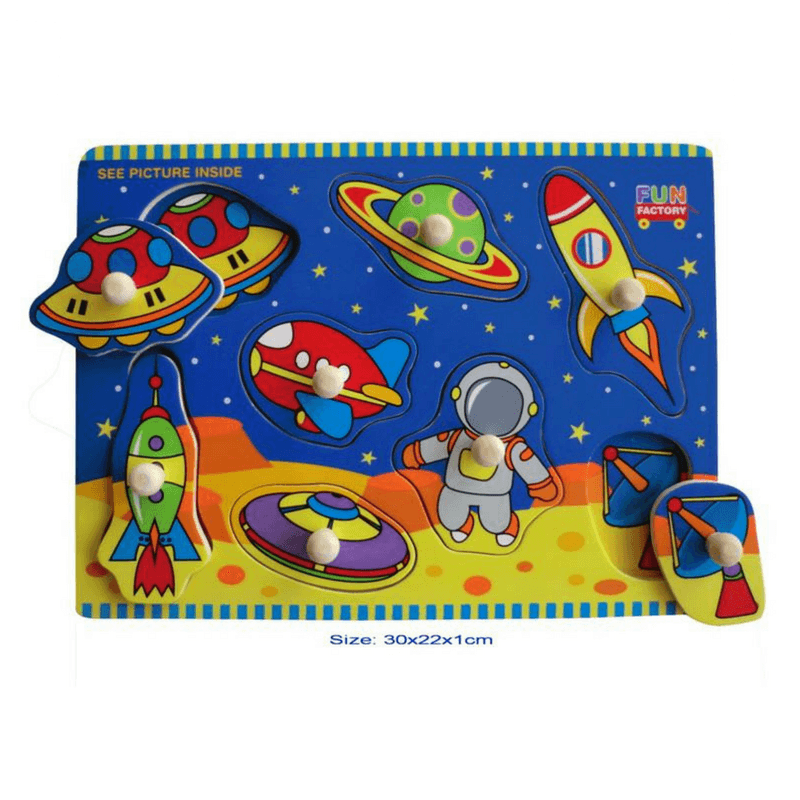 La Belle Toys - Space Puzzle with Knobs - CleverStuff
