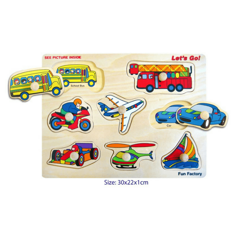 Fun Factory - Wooden Transport Puzzle - Let's Go! - CleverStuff