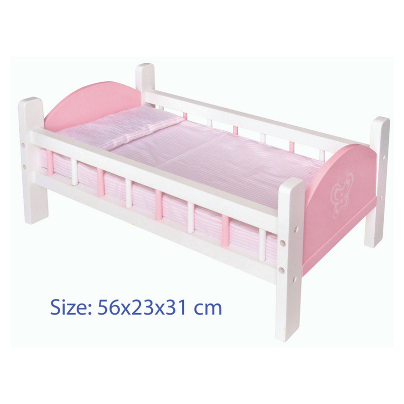 Doll Bed with Bedding - Pink