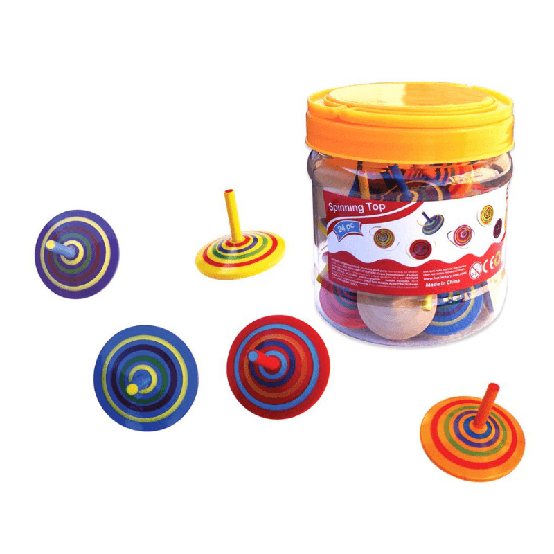Wooden Spinning Tops - Fun Factory
