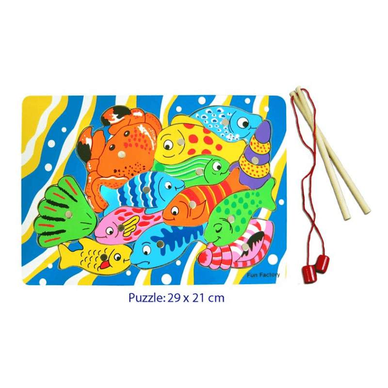 Magnetic Fishing Puzzle with 2 Rods