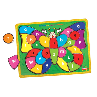 Colourful Alphabet Butterfly Puzzle