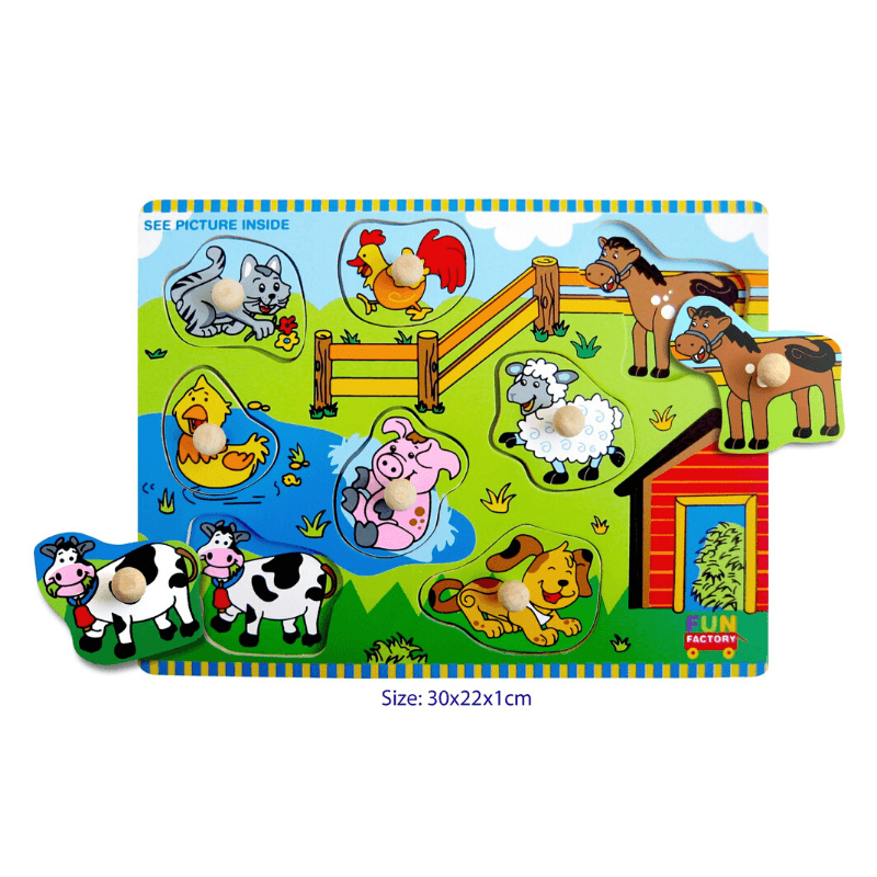 Colourful Farm Puzzle with Knobs