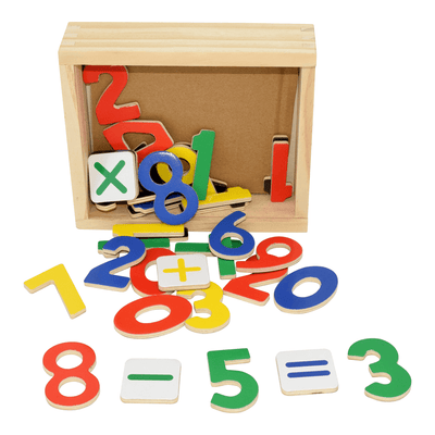 Wooden Magnetic Numbers 37pce