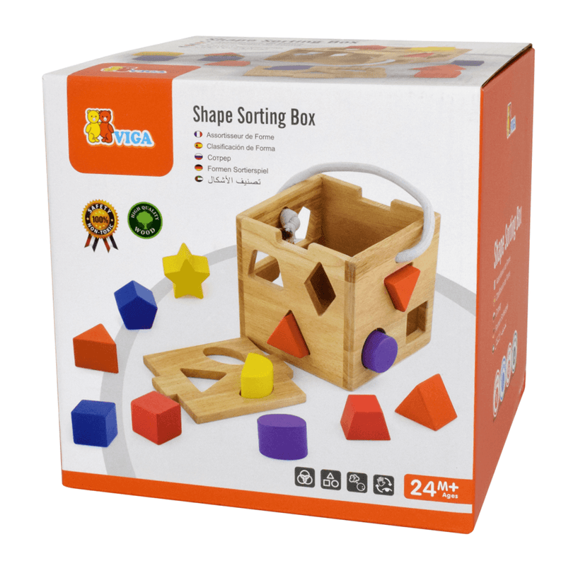 Viga - Shape Sorter with 12 Blocks - CleverStuff