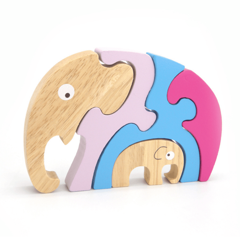 Elephant Parent and Baby Puzzle