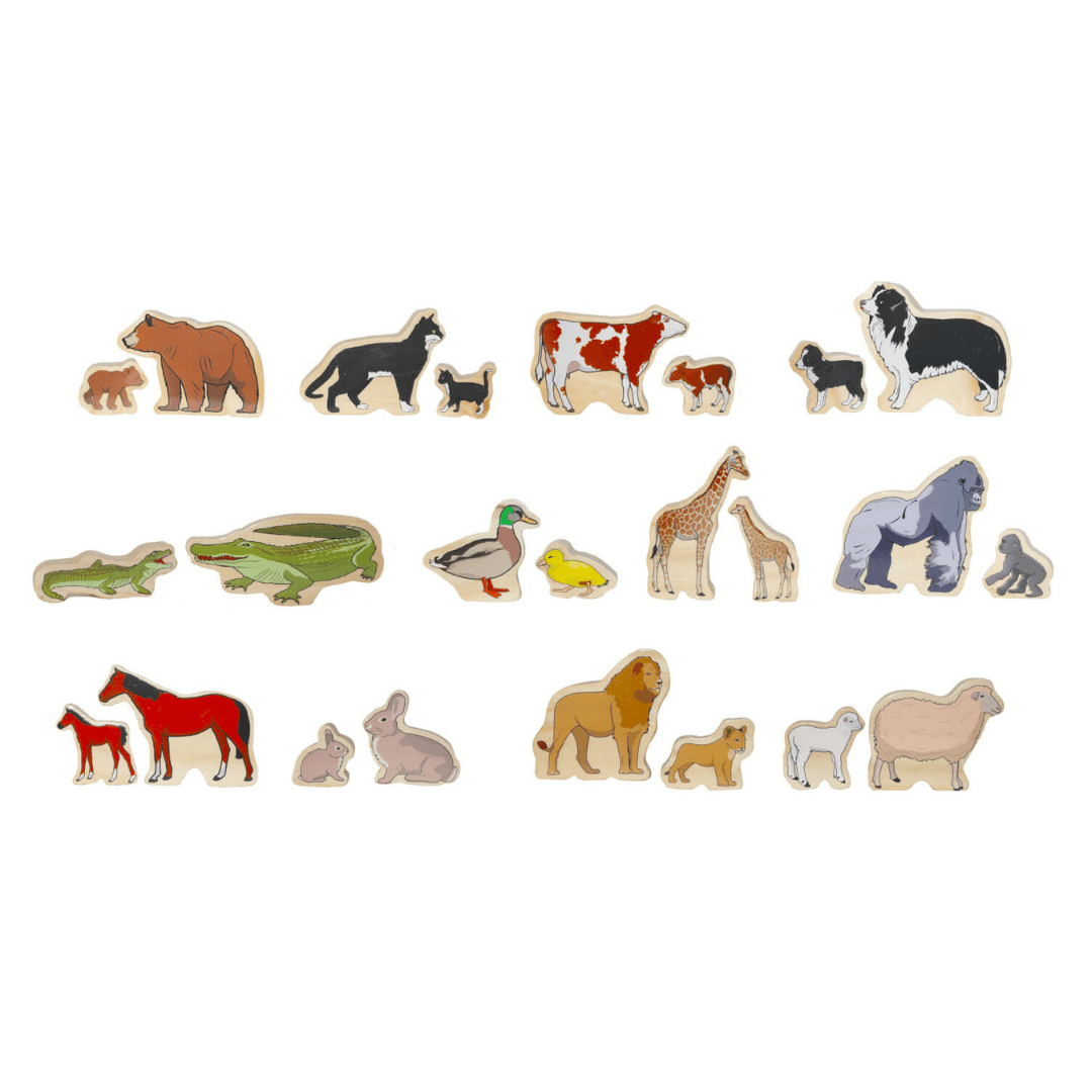 Wooden Animal Family Pairs