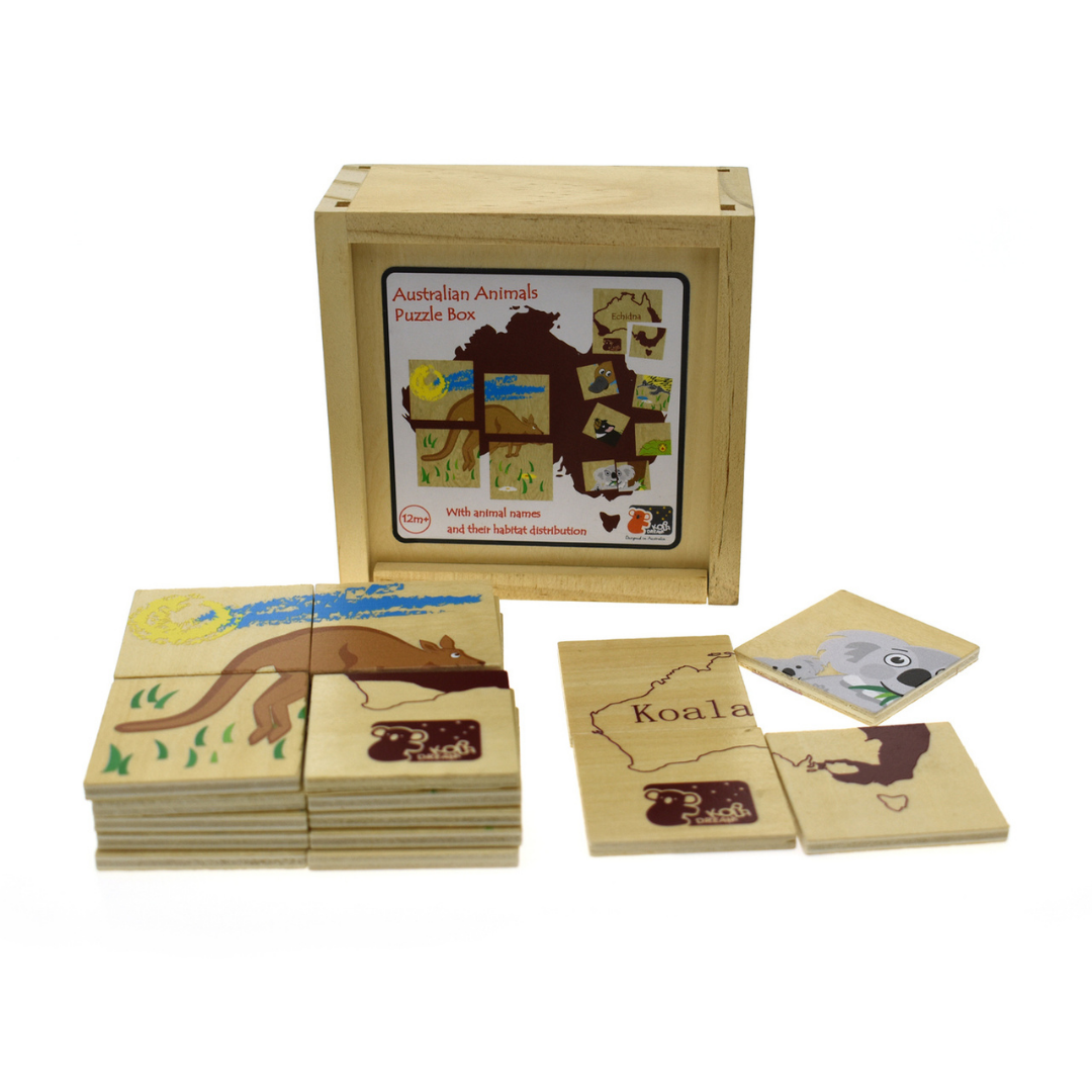 Australian Animal Puzzle Tiles in Box