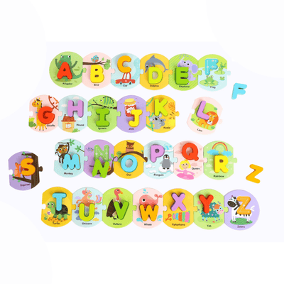 Colourful Alphabet Linking Puzzle