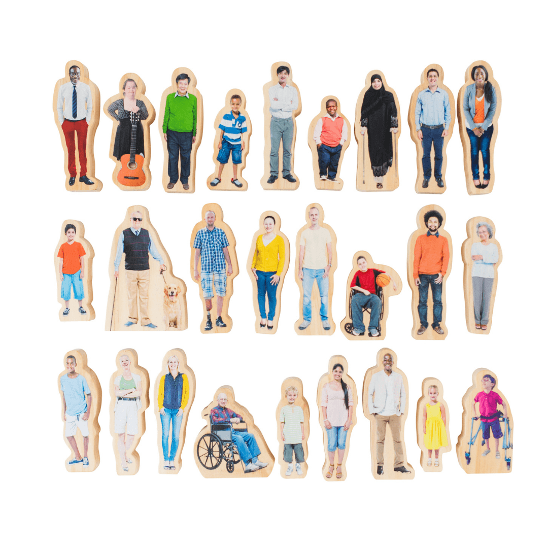 Everyone's Family - Wooden People Set