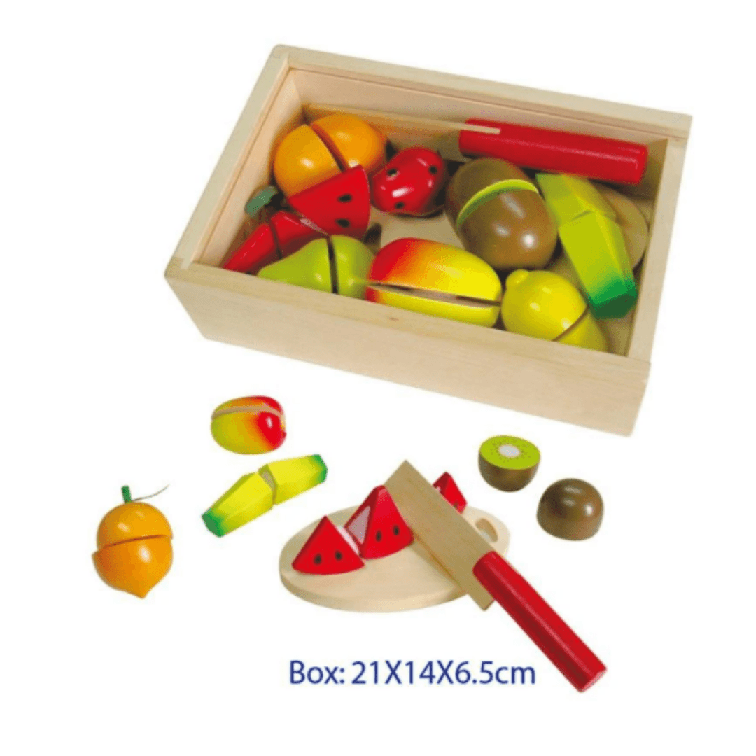 Wooden Fruit Cutting Box with Chopping Board