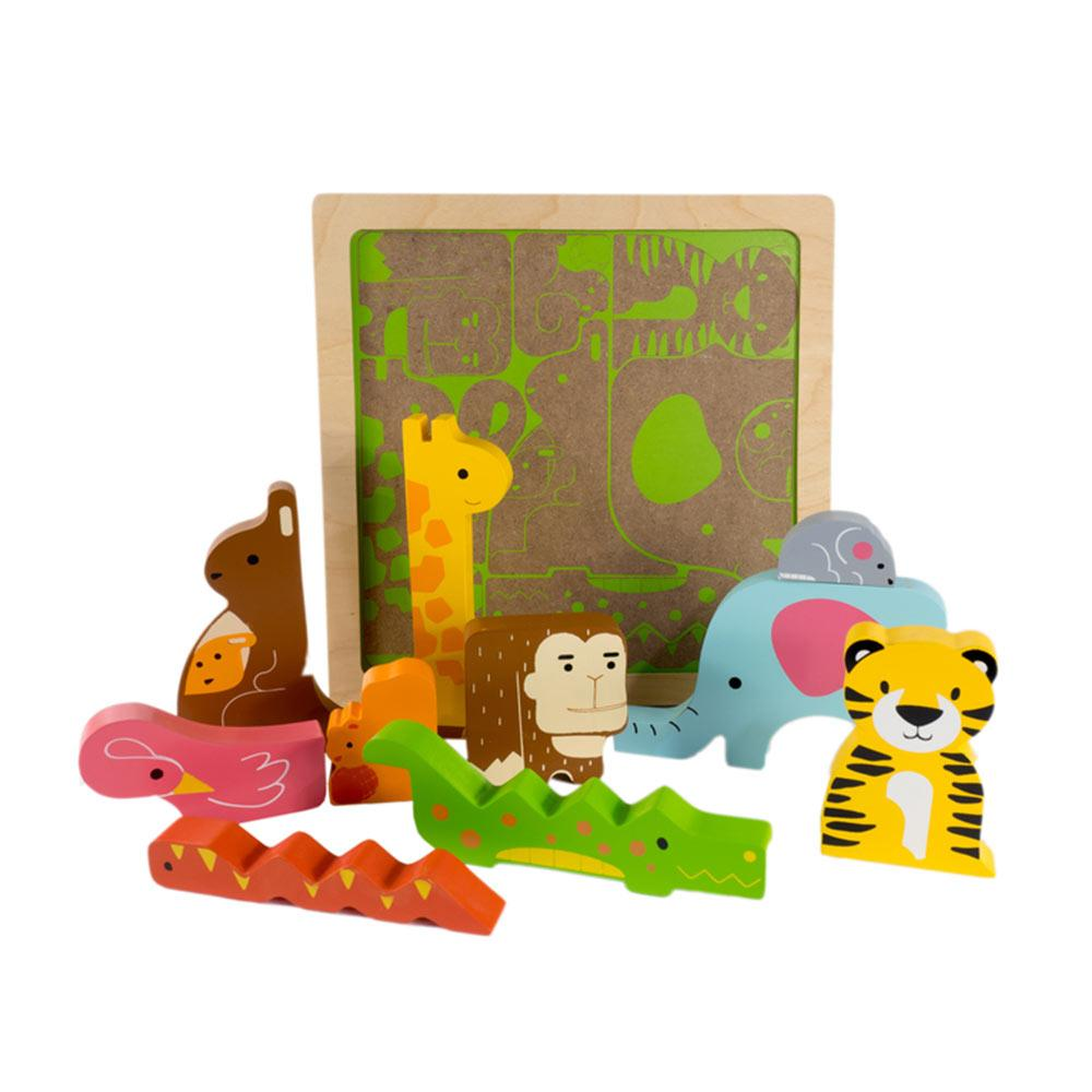 Kiddie Connect - Wild in the Jungle Chunky Puzzle - CleverStuff