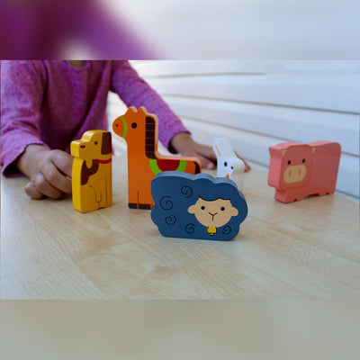 Kiddie Connect - On the Farm Chunky Puzzle - CleverStuff