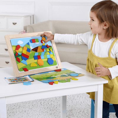 Colourful Magnetic Shapes Board