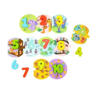 Colourful Number Linking Puzzle