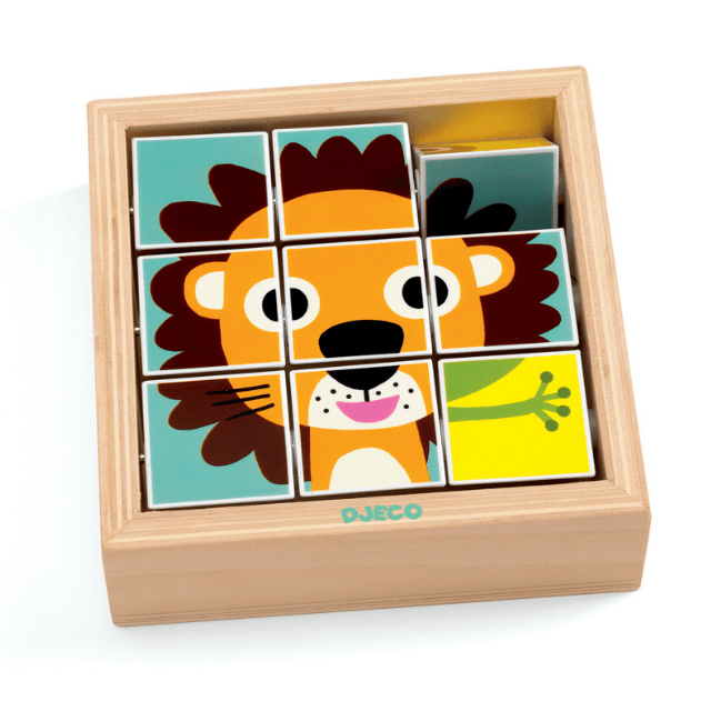 Spinning Jungle Animal Puzzle Box