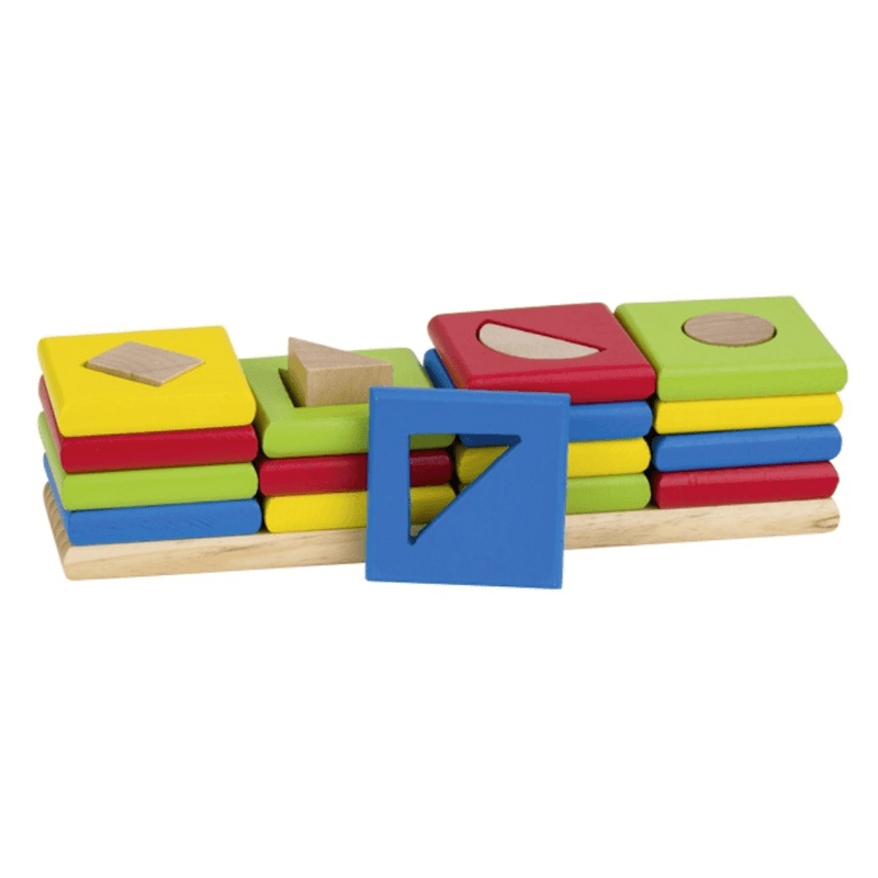 4 Shapes Stacking Block Tower