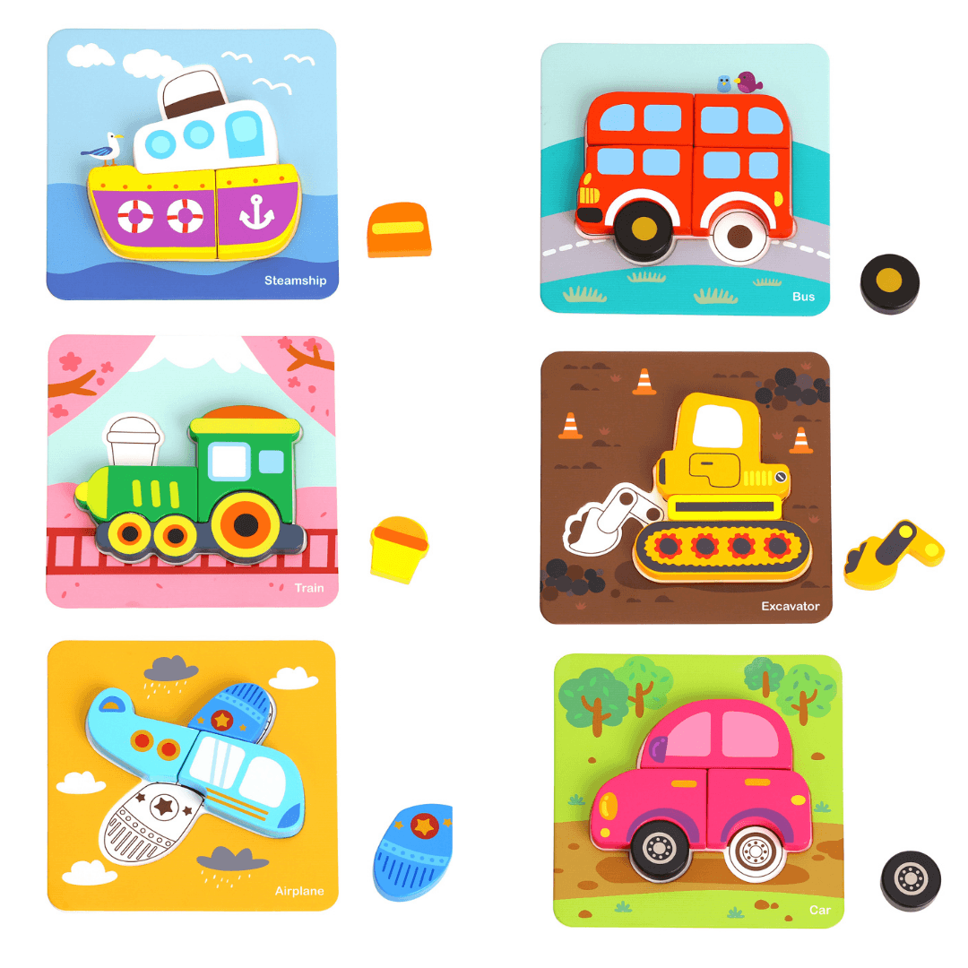 Set of 6 Vehicle Puzzles