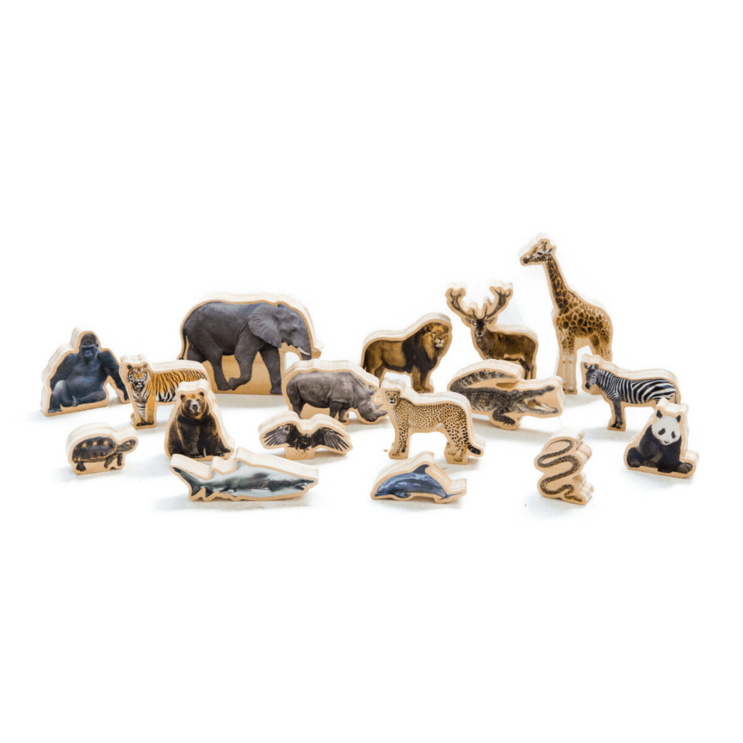Wooden Wild Animal Play Figurines