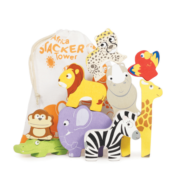 Wild Animal Stacker Tower & Bag