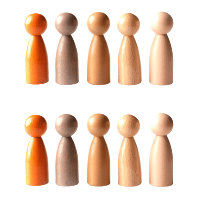 Wooden Peg People of the World
