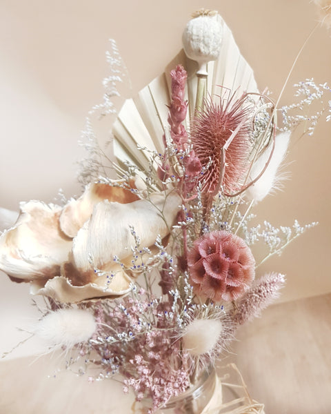 Dried flower bouquet - blush mix - small