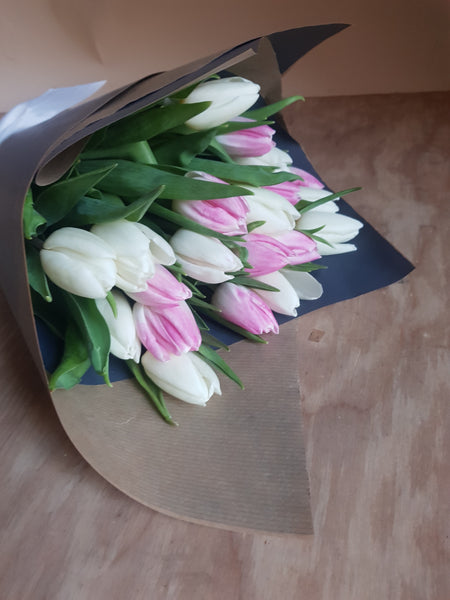 Mother's Day tulip bouquet - available for delivery Saturday only