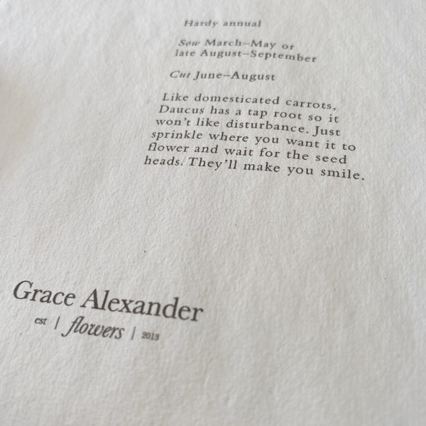 Grace Alexander Seed Packets