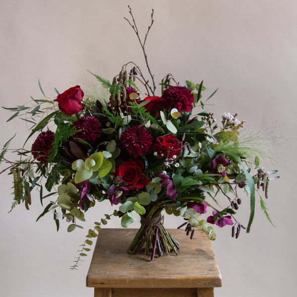 rose and ammi flowers Edinburgh florist valentines bouquet 2019