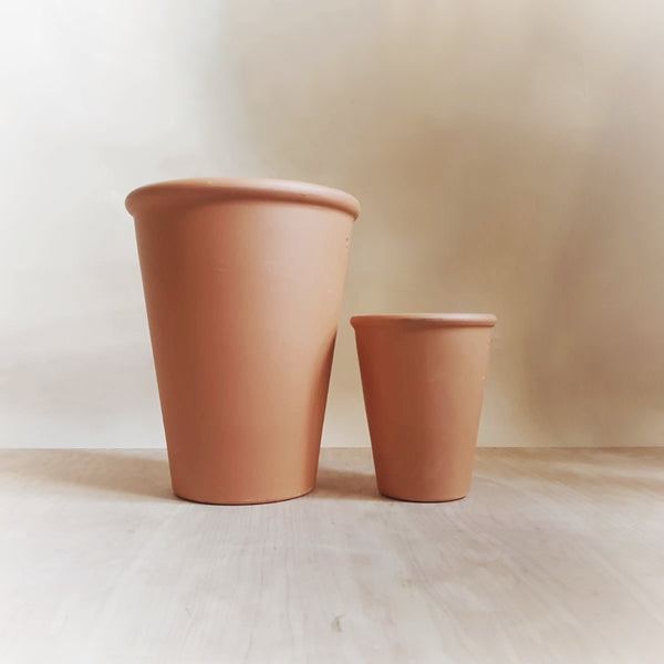 Terracotta long Tom pot