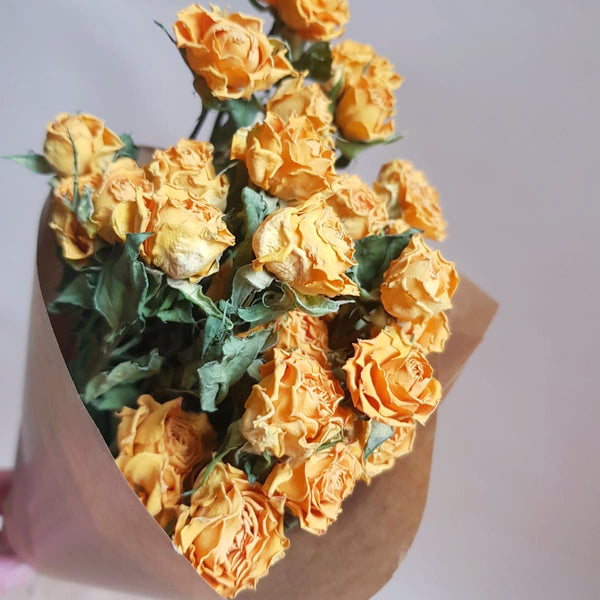 Dried flowers - bunch of Spray Roses