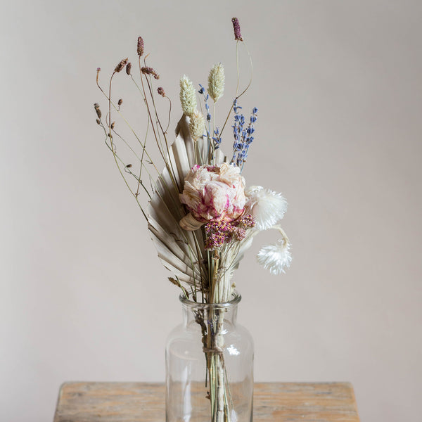 Dried Flower Posy - Rose and Ammi Flowers Edinburgh florist