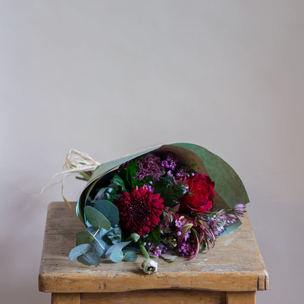 Red Rose Posy - Rose and Ammi Flowers Edinburgh florist