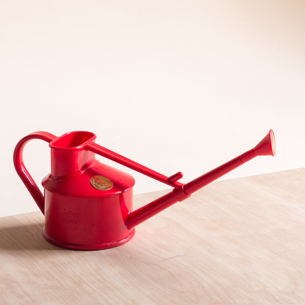 Haws 0.7L plastic watering can - red
