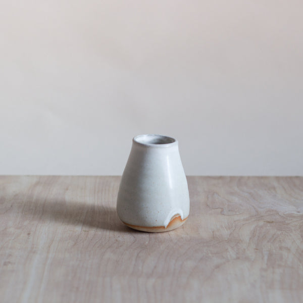 Ceramic bud vase small
