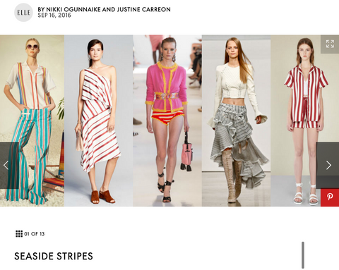 Top 2017 fashion trends will feature stripes, too.