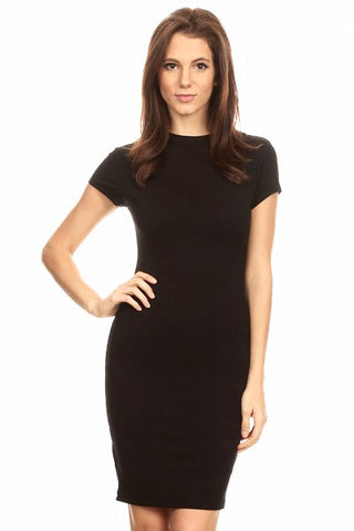 Flatter Me Black Bodycon Dress