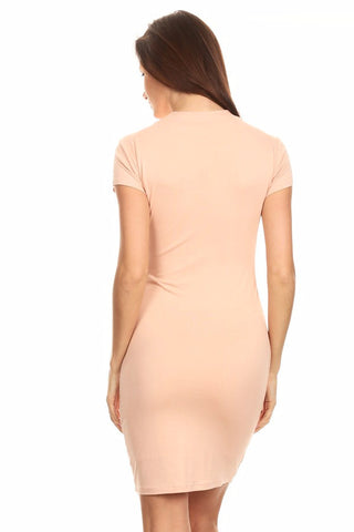 Flatter Me Blush Bodycon Dress
