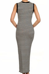 Stay In Line Stripe Maxi Dress