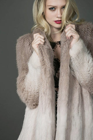 Love On The Brain Rabbit Fur Coat