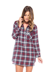 Shirt & Sweet Plaid Dress