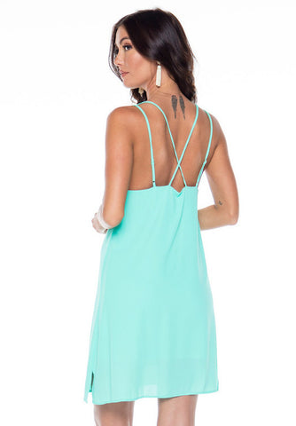 Sassy Sweetheart Shift Dress - Mint