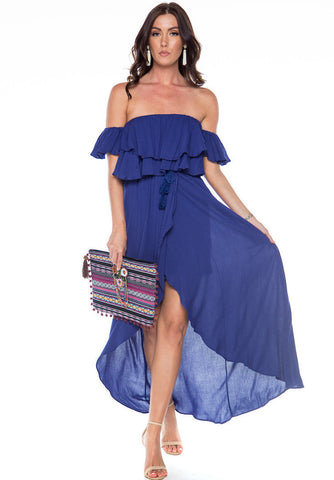 Lost In Paradise OTS Maxi Dress - Navy