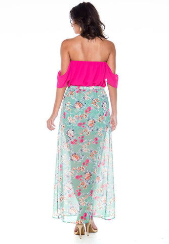 Primrose Princess Floral Maxi Skirt/Shorts